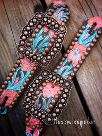 WILD ROSE belt spur straps