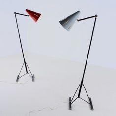 Eiffel Tower Base Floor Lamp by H. Busquet for Hala Zeist