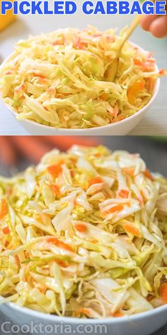 Easy pickled cabbage gives zip to ordinary meals.