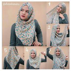 Gambar Cara Memakai Hijab Modern dengan Gaya Berhijab Yang Modis dan Terbaru #hijab #hijabers #muslimah #hijabfashion #hijabstyles #islam #hafana http://hafana.com