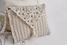 Crochet y dos agujas: Cartera elegante tejida con ganchillo - con ...