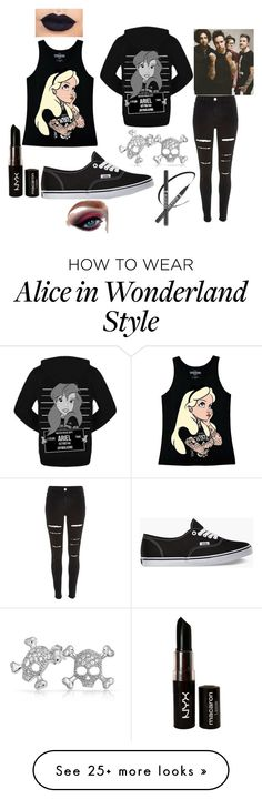 """Fallout Boy"" by asone on Polyvore featuring Disney, River Island, Vans, Bling Jewelry and NYX"