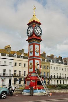 The famous Weymouth clock on the sea front