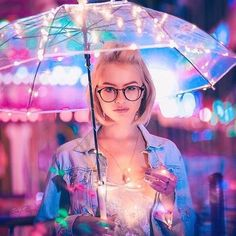 Glow Girl With Umbrella