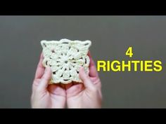 HOW TO CROCHET EASY Victorian Granny Square (4 RIGHTIES)