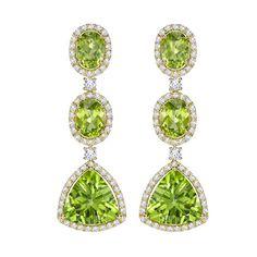 Zesty green peridot jewellery: gemstone of the hot summer season Peridot Jewelry, Gemstone Jewelry, Gold Jewelry, Jewelery, Fine Jewelry, Peridot Rings, Vintage Jewellery, Luxury Jewelry, Titanic Jewelry