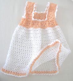Love Crochet: Crocheted Newborn infant Baby Girl dress 0