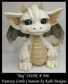 Handmade Fantasy Little Dragon DollHouse Art Doll Polymer Clay CDHM OOAK Beg