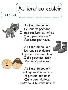 comptine loup - Recherche Google Wolf, Teaching Language Arts, Literacy Activities, Tour Eiffel, Learn French, My Job, Recherche Google, Images, Frans