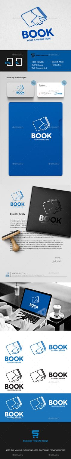 Book Logo  EPS Template • Download ➝ https://graphicriver.net/item/book-logo/15500062?ref=pxcr