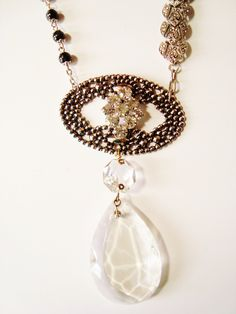 Vintage Repurposed Necklace    A Night Out  Creative Revival via Etsy.