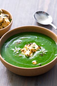 Anna Hansen's vibrant wild garlic soup recipe combines a host of spring flavours, with new potatoes adding a silky richness.