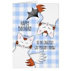 Funny birthday for cat lovers card - birthday cards invitations party diy personalize customize celebration