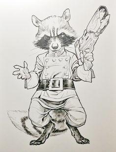 Rocket Raccoon by Stephane Roux