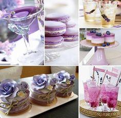 hochzeitsessen-lila-vorschläge-ideen-getränke-kuchen-torte http://www.optimalkarten.de/blog/lila-hochzeit-inspiration-tischdeko-einladungen-etc/
