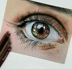 Realistic looking eye drawing made with colored pencils! Realistic looking eye drawing made with colored pencils! Love Drawings, Colorful Drawings, Pencil Drawings, Art Drawings, Ipad Kunst, Realistic Eye Drawing, Drawing Eyes, Eyes Artwork, Eye Sketch