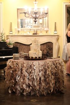 Elegant cake table by Southern Event Planners in Memphis, TN