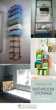 Repurposed Bathroom Storage Solutions! • Ideas & Tutorials!
