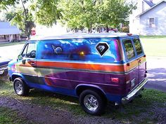 Chevrolet : Other custom vintage customized chevrolet van house of colors 1970s style mural chevy custom
