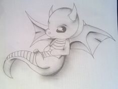Baby Dragon Drawings | Baby Dragon by ~AMMEX on deviantART