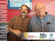 Rick and Mike Fitzsimmons, the kings of local talk, at Sacred Heart Children's Hospital, raising money for Children's Miracle Network.