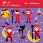 Red devil Halloween