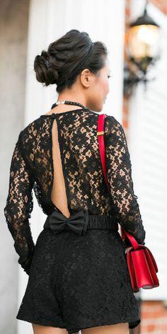 Black Lace Romper ♥
