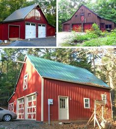 Build a great barn for your place. This plan set starts with blueprints for sturdy 18x20, 20x24 and 24x24 pole barns that can be expanded and customized to fit your needs. Options and add-ons let you create any of forty four different layouts so you can build your perfect barn, garage, workshop,