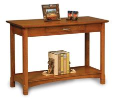 Amish West Lake Open Sofa Table with Drawer