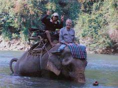 Thailand Elephant river rafting