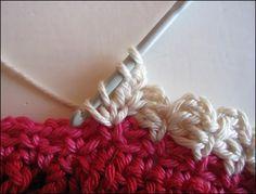 Different crochet edging