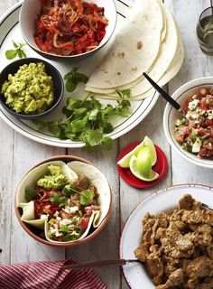 No cutlery needed here, just wrap up the tortillas and have big napkins on hand to wipe sticky fingers.