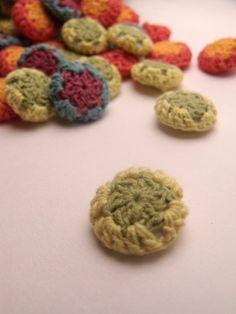 ... Crochet Button - Yellow/ Green | Crochet Clothing | Crochet