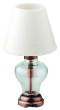 LED DeWitt Table Lamp - The LED dollhouse deWitt table lamp is scale, the Dollhouse Lights, How To Make Light, Doll Houses, Led Lamp, Contemporary Style, Dollhouse Miniatures, Light Up, Minis, Table Lamp