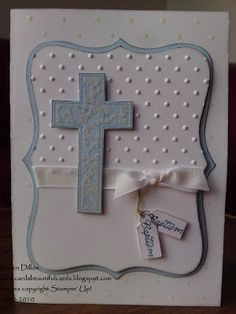 Cards, Beautiful Cards: A Baptism Card for a Boy