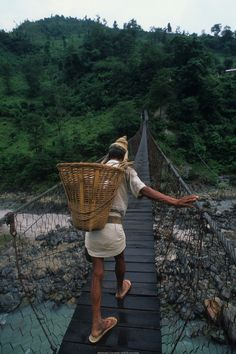 The Crossing -- Nepal.  Go to www.YourTravelVideos.com or just click on photo for home videos and much more on sites like this.