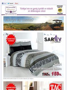 Safari'ye var mısınız? Sarev, Taç, Sanat Halı, Konsept ürünleri EN UYGUN FİYAT ve ÜCRETSİZ KARGO fırsatı ile Nevresim Dünyası'nda.