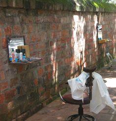 Hanoi - Vietnam: Street Barber