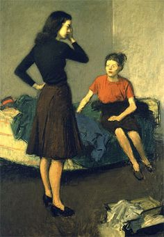 Raphael Soyer,  Roomates, 1937, oil on canvas