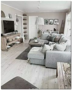 Amazing Small Apartment Living Room 50 - Galoresolution Inc Living Room Grey, Home Living Room, Interior Design Living Room, Living Room Designs, Living Room Decor, Kitchen Interior, Living Room With Sectional, Grey Living Room Furniture, Grey Sectional