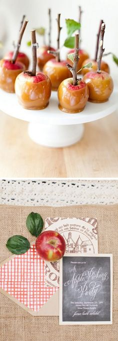 Apple Pickin' party ideas http://www.theperfectpalette.com/2014/09/apple-orchard-wedding-inspiration.html