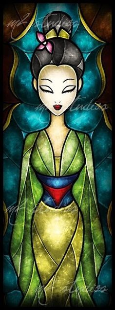 Cross stitch pattern Disney Mulan Stained Glass by XStitchAddict Disney Pixar, Arte Disney, Disney Fan Art, Disney Girls, Disney And Dreamworks, Disney Love, Disney Magic, Disney Artwork, Disney Princes
