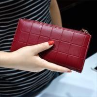 Lady Femmes Candy Soft Leather Clutch Wallet mignon Longue Carte Sac à main bleu US