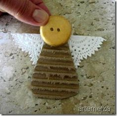 κατασκευές angel, easy for children Christmas Angel Ornaments, Christmas Crafts For Kids, Christmas Projects, Kids Christmas, Holiday Crafts, Christmas Decorations, Handmade Angels, Xmax, Angel Crafts