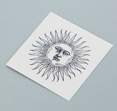 Sunrise, the sun with a face by Tattoonie Premium Temporary Tattoos. #t4aw #tattoonie #tattooforaweek #sun #sunrisetattoo #sunrise #temporarytattoo