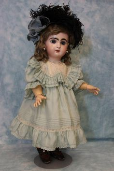20 Inch Antique Tete Jumeau French Bisque Doll with Jumeau Shoes! circa 1890s   eBay