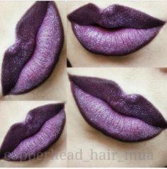 Brush Eye Kandy's glitter Tiny Tart over purple lipstick to recreate these gorgeous lips. www.eyekandycosmetics.com