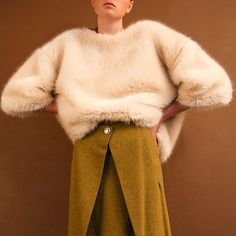 Fluffy knits by @loeil_official ☁️ #knitwear #cosyknits