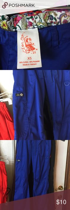 Koi scrub royal blue Koi scrub pants Lindsay cut royal blue multi pockets koi Pants Trousers
