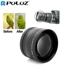 PULUZ 2X 58mm Professional Telephoto Lens for Canon 350D 400D 450D 500D 1000D 550D 600D 1100D. #PULUZ #58mm #Professional #Telephoto #Lens #Canon #350D #400D #450D #500D #1000D #550D #600D #1100D